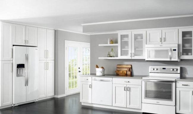 15 mẫu tủ bếp nhôm kính màu trắng sứ đẹp mê ly