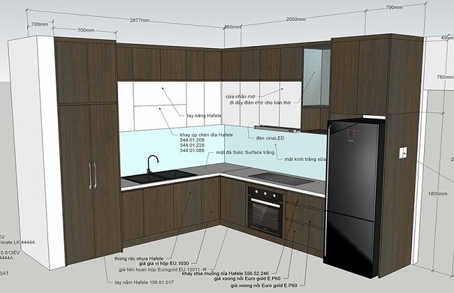 Bản vẽ cad tủ bếp