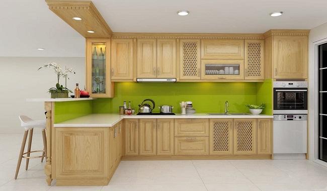 Báo giá tủ bếp gỗ tần bì