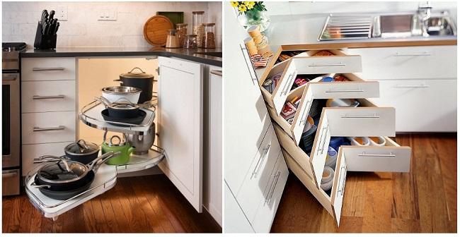 Bố trí tủ bếp dưới tiết kiệm diện tích tối đa