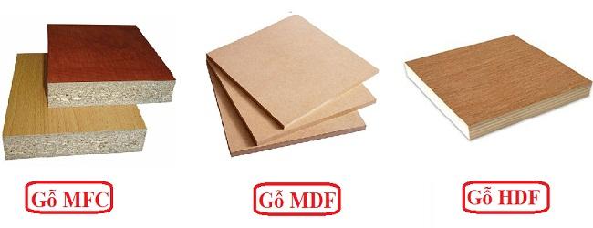 Các loại gỗ công nghiệp dùng làm tủ bếp