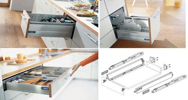 Các loại phụ kiện tủ bếp cơ bản