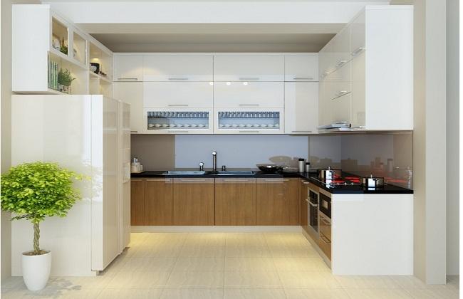 Mẫu tủ bếp nhỏ xinh tiết kiệm không gian tối đa