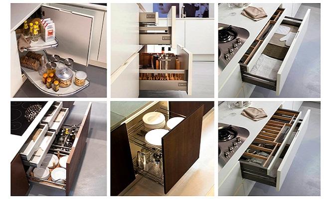 Cách bố trí tủ bếp dưới tiết kiệm diện tích tối đa