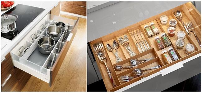 Cách bố trí tủ bếp dưới