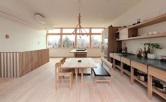 Cách thiết kế tủ bếp đơn giản phong cách Nhật Bản