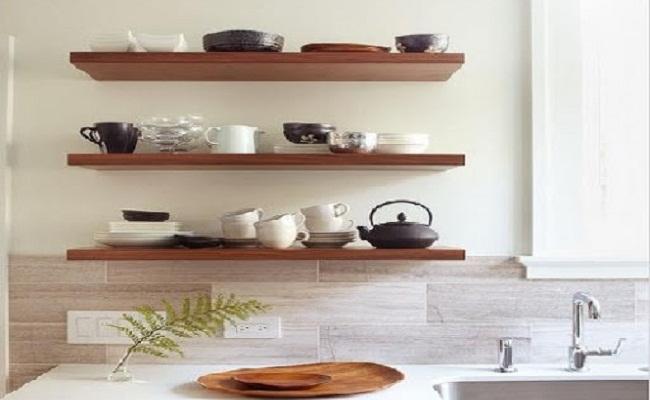 Giá kệ bếp gỗ