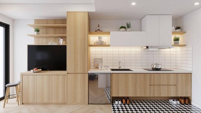 Giá tủ bếp gỗ HDF