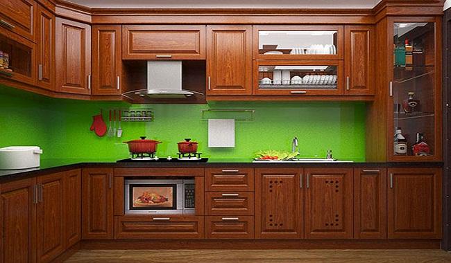 Giá tủ bếp gỗ xoan đào bao nhiêu tiền?