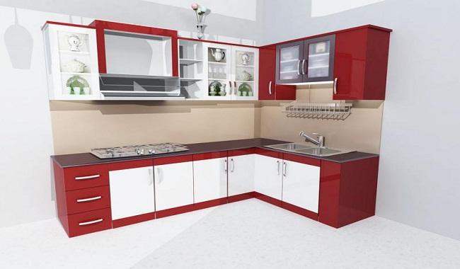 Giá tủ bếp nhôm kính sơn tĩnh điện