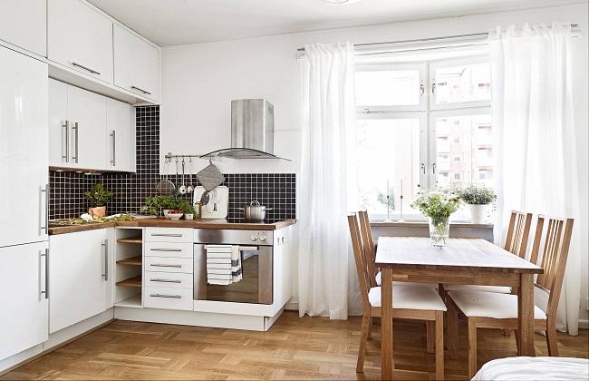 Sử dụng tủ bếp nhỏ để tiết kiệm không gian nhà bếp