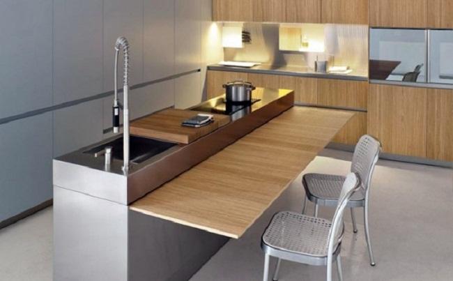 Sử dụng đồ nội thất nhà bếp phù hợp