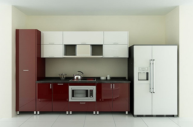 Mẫu kệ tủ bếp Acrylic