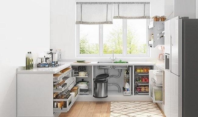 Thiết kế kệ tủ bếp Acrylic