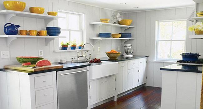 Kệ tủ bếp đơn giản bằng gỗ công nghiệp