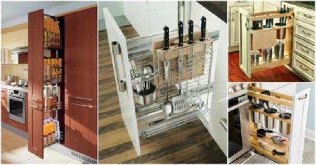 Kệ tủ bếp thông minh cho nhà bếp hẹp