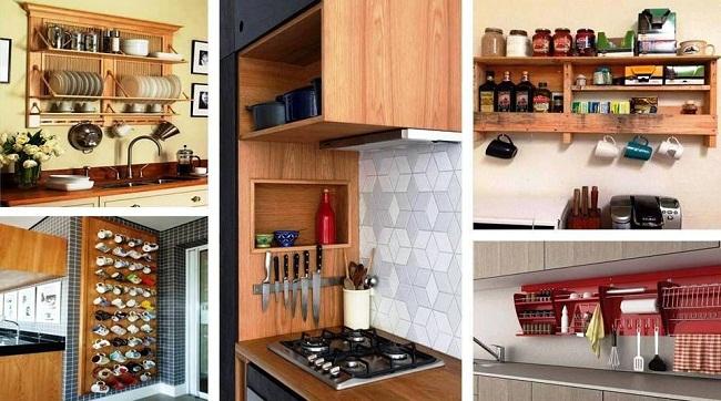 Kệ tủ bếp treo tường nhiều ngăn