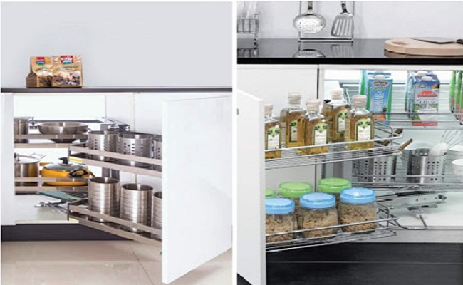 Kệ xoay liên hoàn tủ bếp dưới