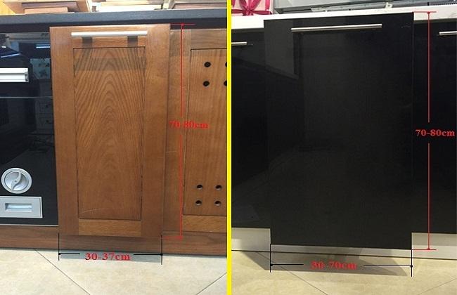 Kích thước cánh tủ bếp tiêu chuẩn là bao nhiêu?
