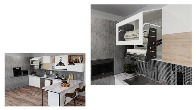 Mẫu nội thất tủ bếp hiện đại