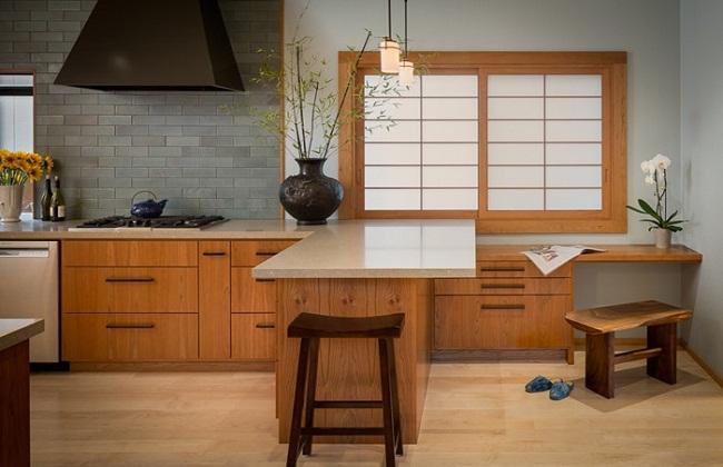Mẫu thiết kế tủ bếp kiểu Nhật đẹp
