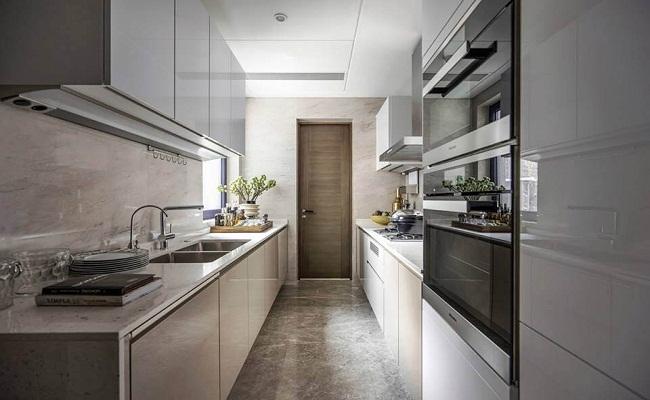 Mẫu thiết kế tủ bếp song song
