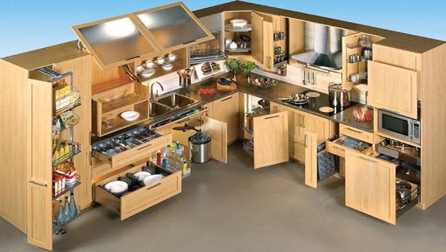 Mẫu thiết kế tủ bếp thông minh đa dụng