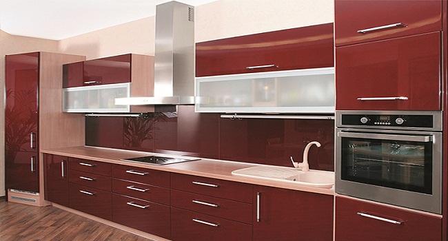 Tủ bếp Acrylic cho nhà chung cư