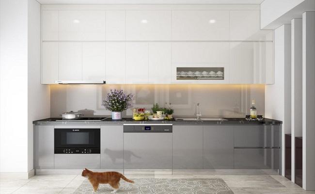 Mẫu tủ bếp cho nhà chung cư nhỏ