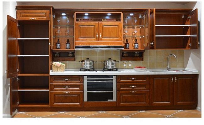 Bếp bằng gỗ tự nhiên cao cấp