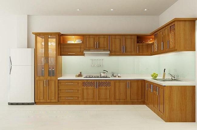 10 mẫu tủ bếp chữ L gỗ tự nhiên hot nhất cho căn bếp thêm cuốn hút