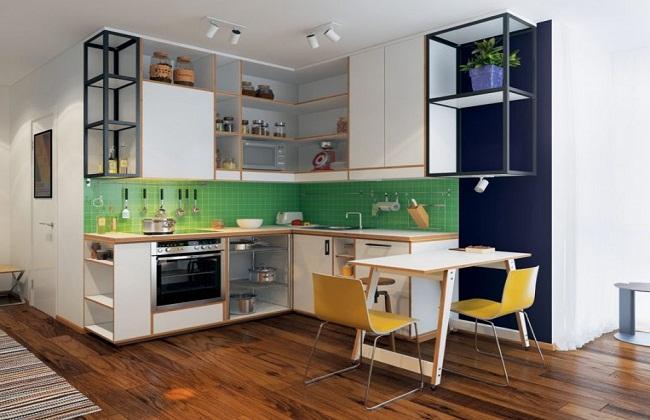 Mẫu tủ bếp chung cư nhỏ