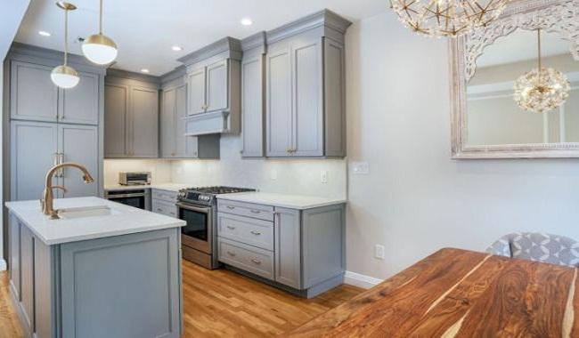 Mẫu tủ bếp dành cho nhà nhỏ