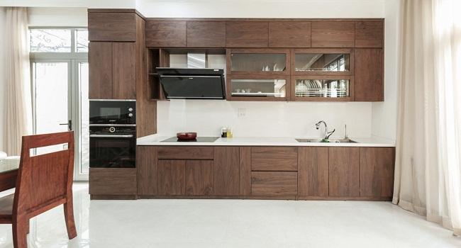 Mẫu tủ bếp đẹp cho nhà nhỏ