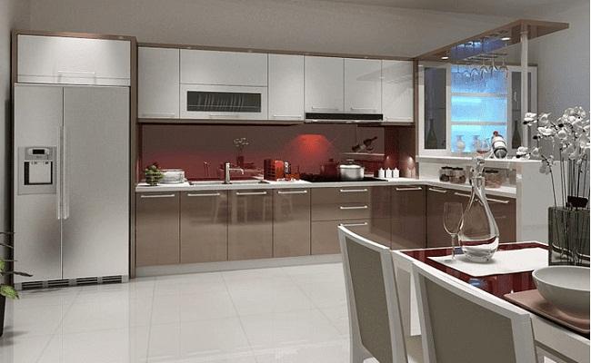 Mẫu tủ bếp đơn giản hiện đại