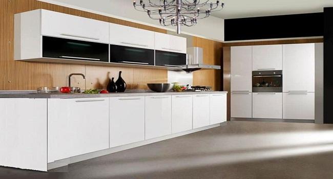 Mẫu tủ bếp dưới bằng gỗ công nghiệp