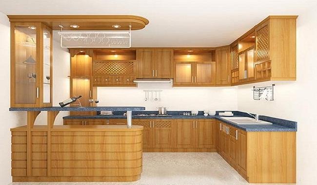 Mẫu tủ bếp gỗ đẹp