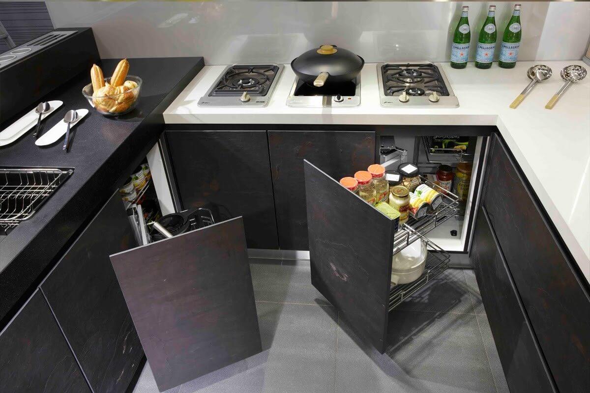 mẫu tủ bếp nhỏ thông minh đa năng