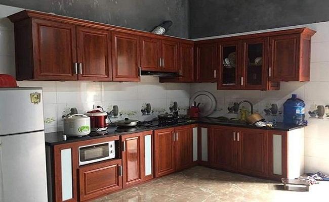 Mẫu tủ bếp nhôm kính cao cấp, sang trọng, mới nhất