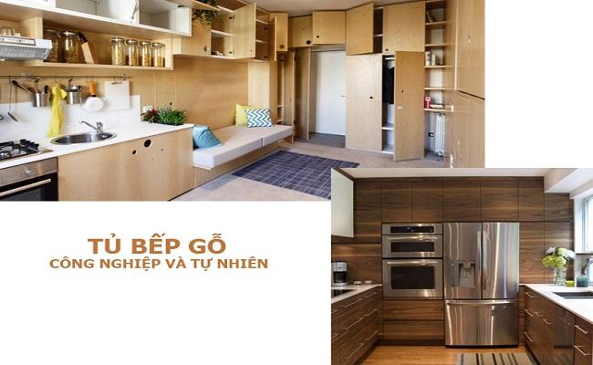 Nên đóng tủ bếp bằng gỗ công nghiệp hay gỗ tự nhiên?
