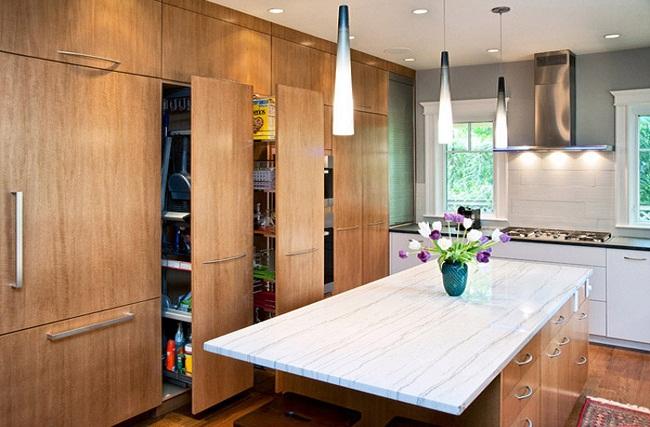 Nội thất tủ bếp âm tường hiện đại