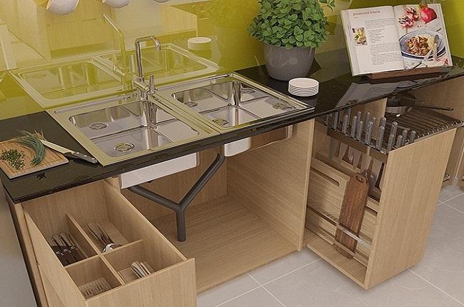 Nội thất tủ bếp bằng gỗ