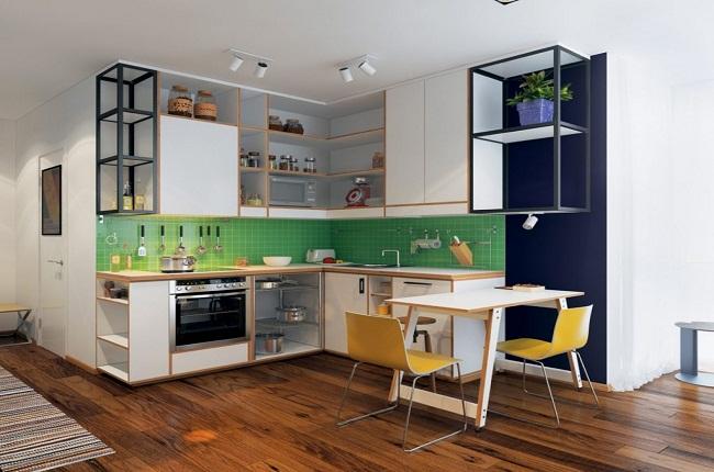 Các kiểu nội thất tủ bếp cho căn hộ