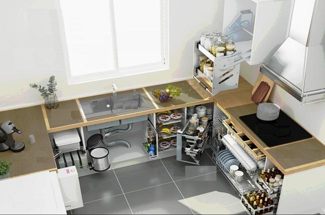 Nội thất tủ bếp inox