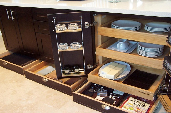 Nội thất tủ bếp gỗ thông minh