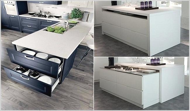 Nội thất tủ bếp thông minh hiện đại