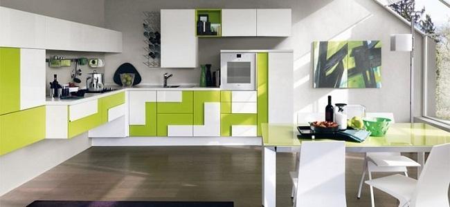 Phong cách thiết kế tủ bếp hình học