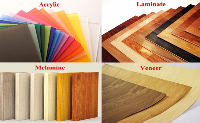 Phủ bề mặt gỗ công nghiệp làm tủ bếp