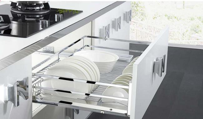 Giá bát đĩa cố định tủ bếp dưới Gegari