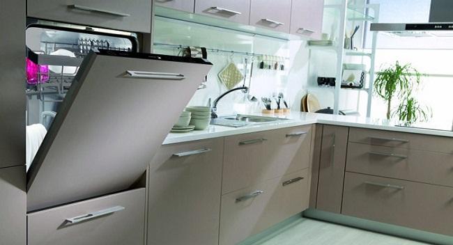 Thiết kế tủ bếp có máy rửa bát âm tủ